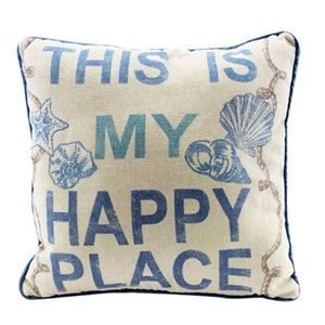 Other - This Is My Happy Place Throw Pillow 12 x 12